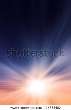 Sunset / sunrise with clouds, light rays