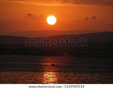 sunset, sunset sundown, sun, evening
