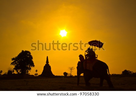Sunset Thai countryside thailand
