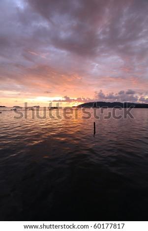Sunset View At Kota Kinabalu Pier, Malaysia!