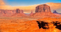 Sunset view at Monument Valley, Arizona, USA
