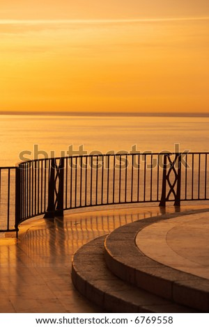 Sunset view from a luxury villa in Spain (Costa Del Sol)