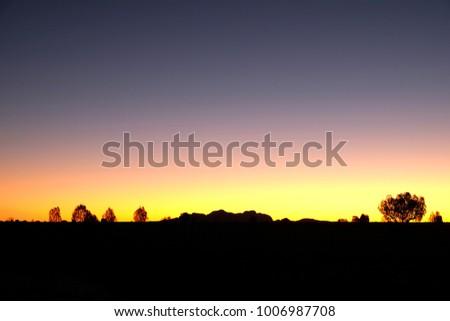 Sunset view Northern Territory, Australia #1006987708