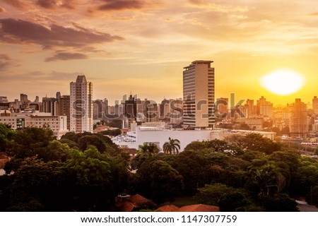 Sunset view of Belo Horizonte, Minas Gerais, Brazil. #1147307759