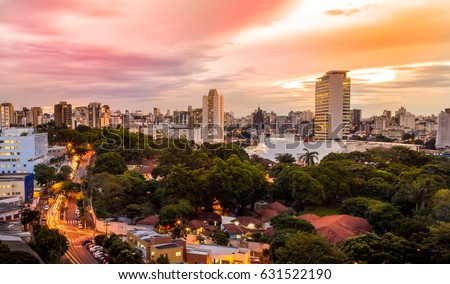 Sunset view of Belo Horizonte, Minas Gerais, Brazil. #631522190