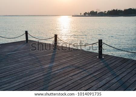 Sunset view of west taihu lake, changzhou, jiangsu province, China #1014091735