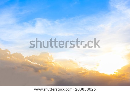 sunset with cloud and blue sky - Shutterstock ID 283858025