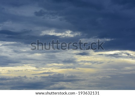 Sunset with Cloudy