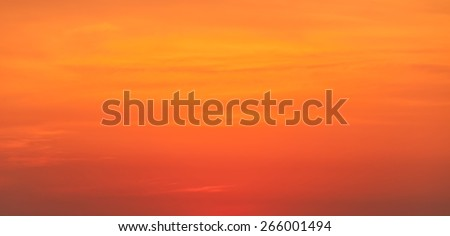 Sunset with evening glow on cloudscape