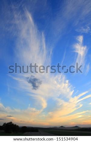 Sunset with sun rays - Shutterstock ID 151534904