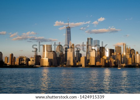 Sunset with the NYC Skyline