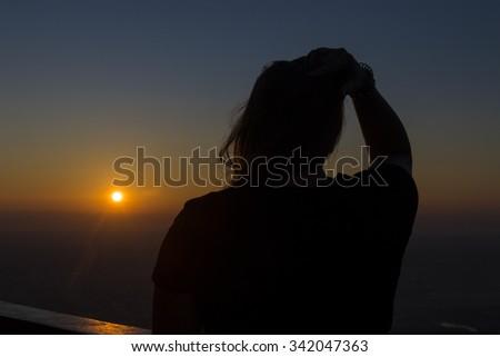 Sunset, woman, thinking #342047363