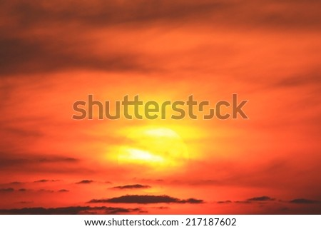 Sunset Wonder Nature And Color Background Peace And
