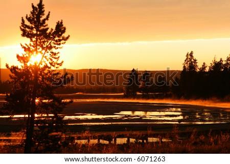 Sunset Yellowstone National PK