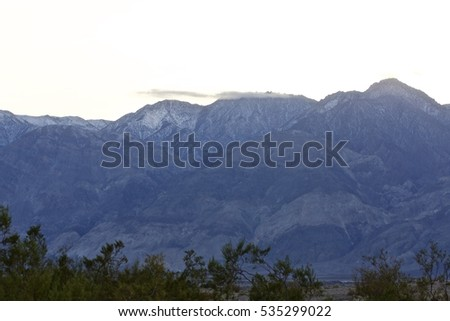 Mountains surrounding the oasis of Warm Springs in the