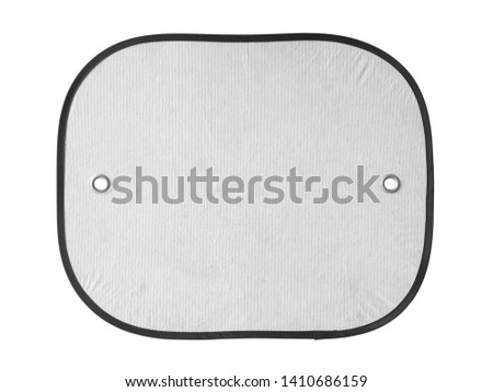 Sunshade for car windshield (with clipping path) isolated on white background #1410686159