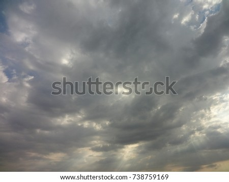Sunshine and clouds #738759169