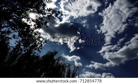Sunshine, clouds and trees. #712854778