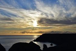 sunshine coastline ocean sunset cliff