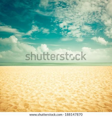 sunshine on empty beach  ...