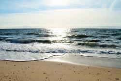 sunshine on the ocean water beach