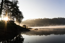 Sunshine over Patenggang Lake of West Java