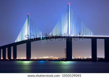 Sunshine Skyway Bridge in Saint Petersburg, Florida #1050539045