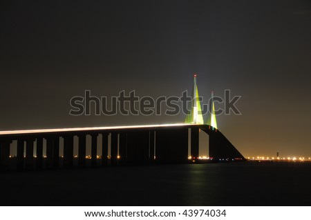 stock photo : Sunshine Skyway Bridge over the Tampa Bay, Florida