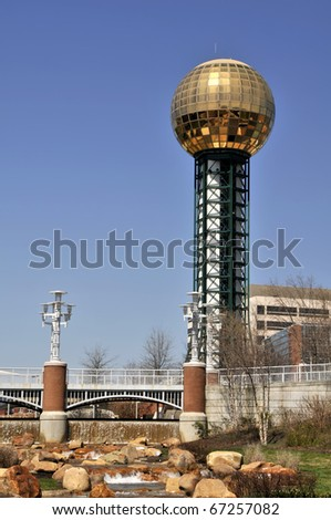 Sunsphere at World's Fair Park, Knoxville, TN Vertical With Copy Space