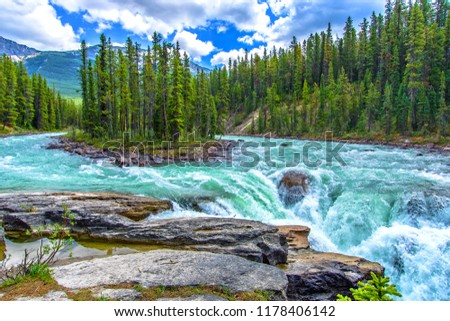 Sunwapta Falls, Jasper, Canada #1178406142
