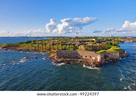 Suomenlinna fortress in Helsinki, Finland - stock photo