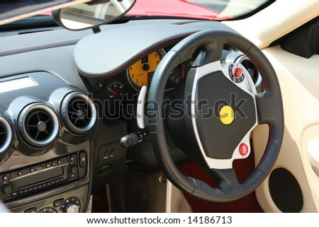 Super car steering wheel and instruments