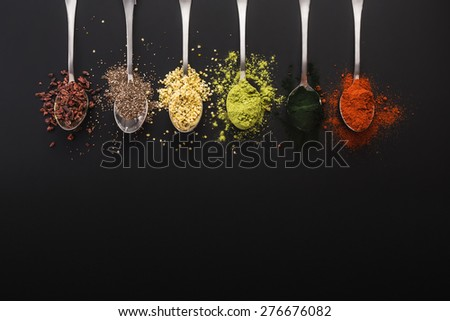 Super food health food selection in spoon Stock photo ©