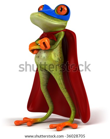 Super frog - stock photo