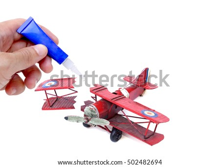 Super glue for fixing broken things with blank space to add text                                #502482694