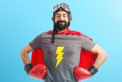 Super hero proud of him self