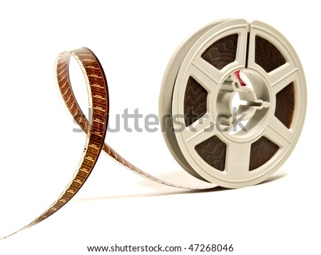 Super 8 mm color motion picture film reel - stock photo