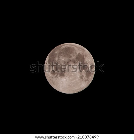 SUPER MOON - AUGUST 11, 2014: The Super Moon rise over Sky at LAMPANG THAILAND.