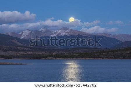 super moon over grays peak  ...