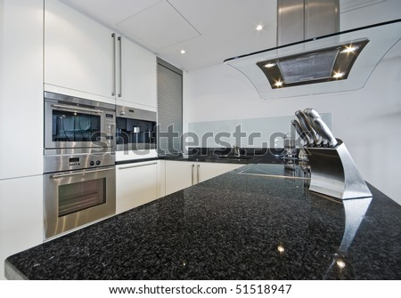 superb luxury kitchen with granite worktop and electric appliances