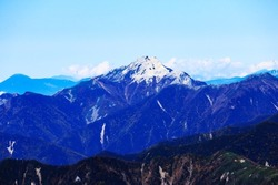superb view of mt.kaikoma from the summit of mt.shiomi in the Southern Alps,ina city,nagano prefecture,japan