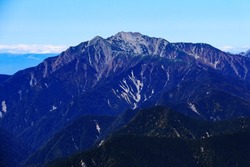 superb view of mt.senjo from the summit of mt.shiomi in the Southern Alps,ina city,nagano prefecture,japan