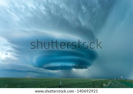 Stock Photo Supercell near Vega, Texas - May 2012