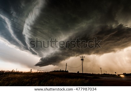 Shutterstock Supercell storm in Oklahoma