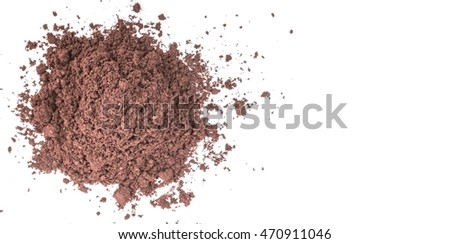Superfood dried acai berry powder over wooden background #470911046