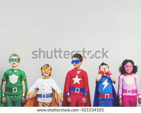 Shutterstock Superhero Kids Aspiration Imagination Playful Fun Concept