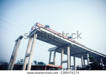 Superhighway construction site in China Stock photo ©