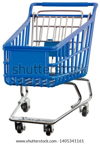 Supermarket Pushcart Isolated with Clipping Path