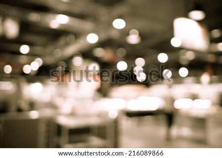 Supermarket store blur background with bokeh #216089866
