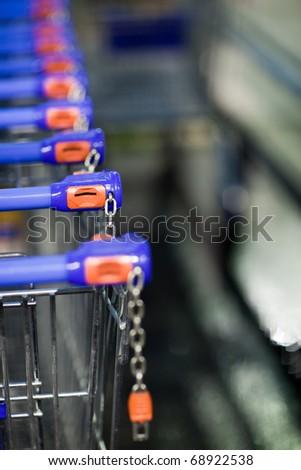 supermatket trolleys (shallow DOF)
